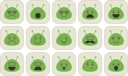 Green Alien stickers