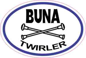 Buna Twirler sticker
