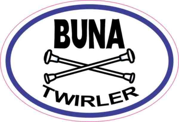 Buna Twirler sticker
