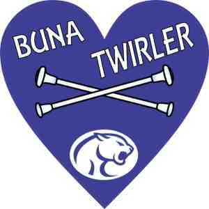 Buna Twirler Heart sticker