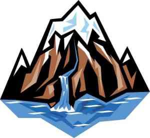 Mountain River sticker