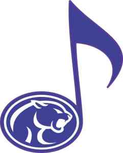 Buna Cougars Eighth Note sticker