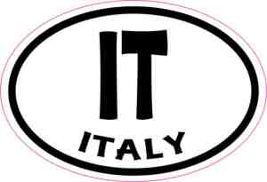 Oval IT Italy sticker