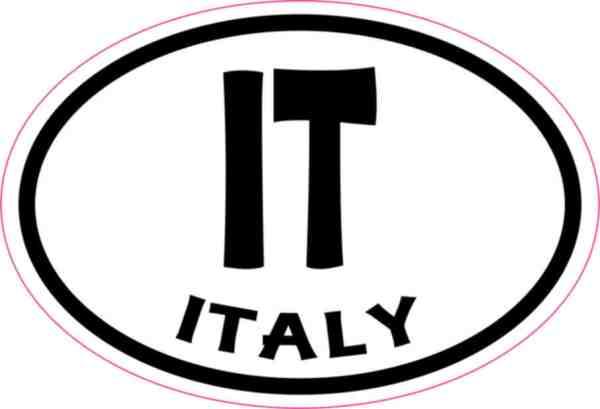 Oval IT Italy sticker