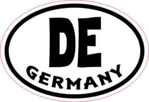 Oval DE Germany sticker