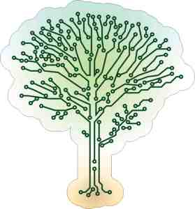 Circuit Tree Sticker
