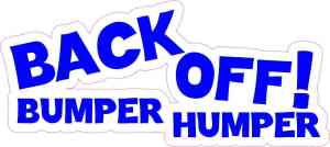 bumper humper sticker