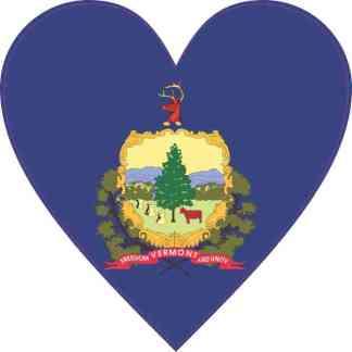 Vermont Heart Sticker