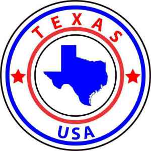 State Circle Texas Sticker