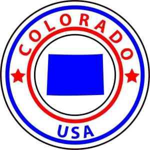 Circle Colorado State Sticker
