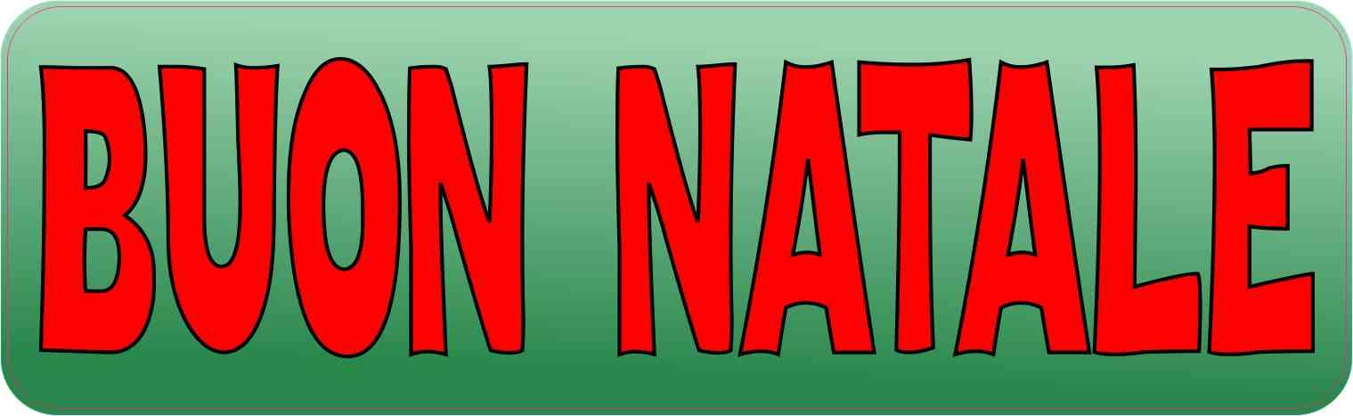 Buon Natale 118.10in X 3in Italian Buon Natale Sticker Vinyl Merry Christmas Decal Stickers