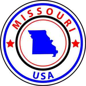 State Circle Missouri Sticker