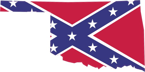 Die Cut Rebel Flag Oklahoma Sticker