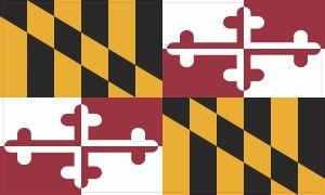 Inside Maryland Flag Sticker