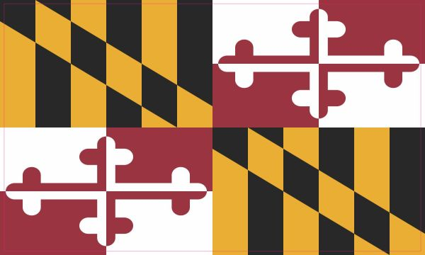Inside Maryland Flag Sticker