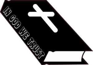 In God We Trust Bible Sticker