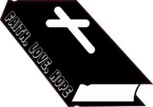 Faith Love Hope Bible Sticker
