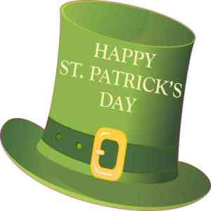 Happy St Patrick's Day Hat Sticker