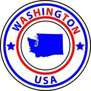 State Circle Washington Sticker
