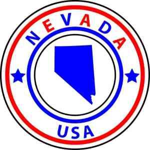 State Circle Nevada Sticker