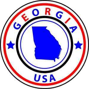 State Circle Georgia Sticker