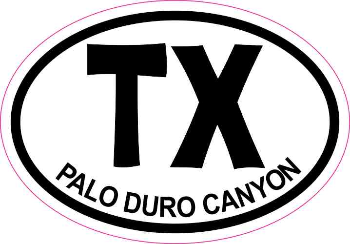 3 x 2 Oval TX Palo Duro Canyon Texas Sticker Travel Decal
