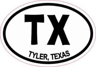 Oval TX Tyler Texas Sticker