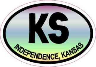 Colorful Oval KS Independence Kansas Sticker