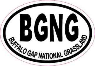 Oval Buffalo Gap National Grassland Sticker
