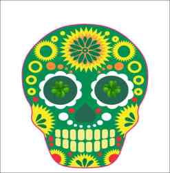 Irish-Themed Skull Sticker