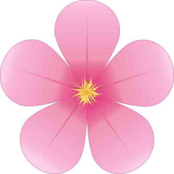 Pink Flower Sticker