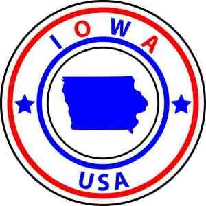 Iowa sticker
