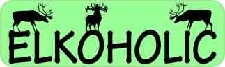 Elkoholic Elk Magnet