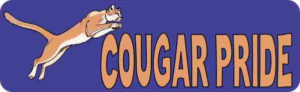 cougar pride bumper sticker