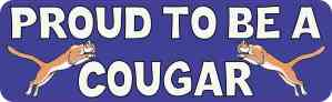 Blue Proud to be a Cougar Bumper Sticker