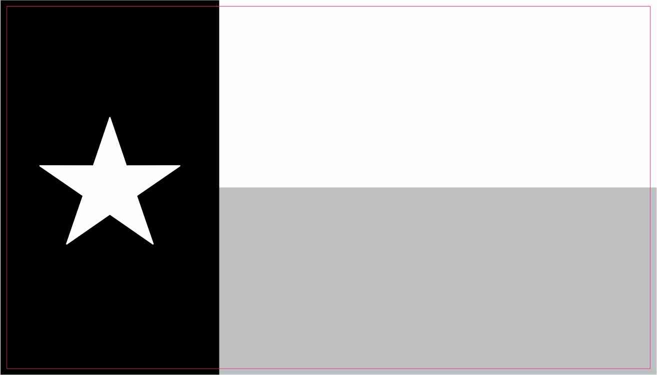 4 25in X 2 5in Black And White Texas Flag Stickers Vinyl