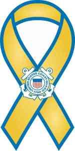 Ribbon Coast Guard Sticker