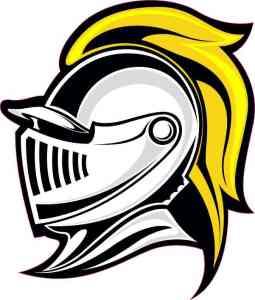 Yellow Knight Mascot Sticker