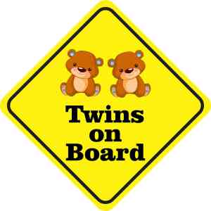 Boy Twins on Board Magnet