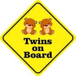 Boy Twins On Board Sticker