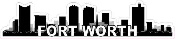 Fort Worth Skyline Sticker