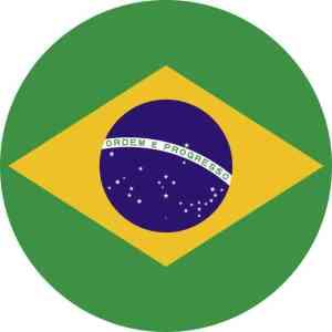 Circle Brazil Flag Sticker