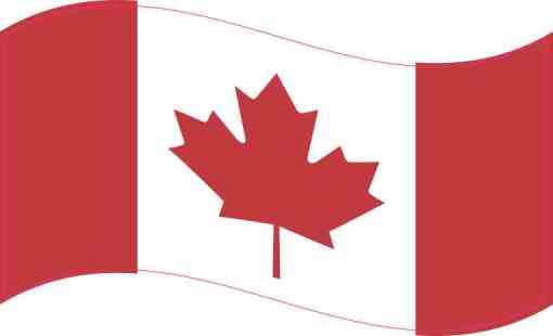 Waving Canada Flag Sticker