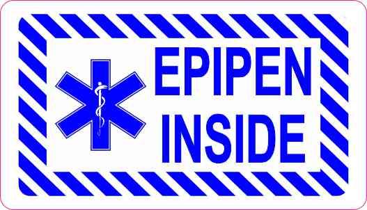 3.5inx2in Epipen Inside Magnet Magnetic Medical Alert ...
