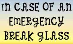 In Case Of An Emergency Break Glass Sticker