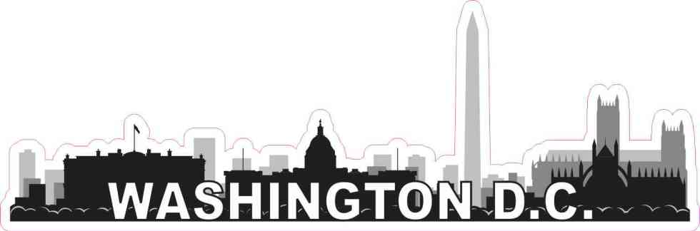 Washington D.C. Skyline Sticker