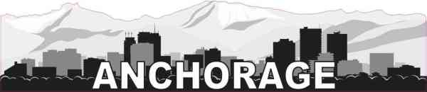 Anchorage Skyline Sticker