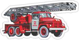 Firetruck Sticker