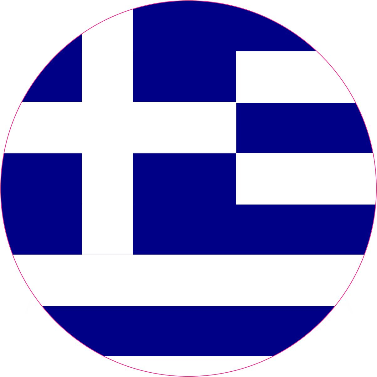 4x4 round greece flag sticker vinyl vehicle decal travel hobby stickers