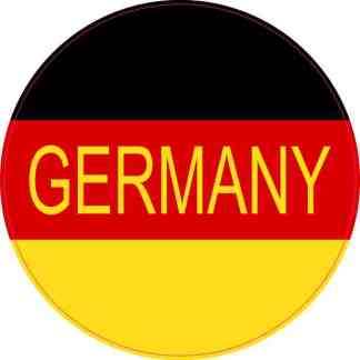 Round Labeled Germany Flag Sticker